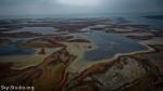 Соленые озера с высоты птичьего полета.